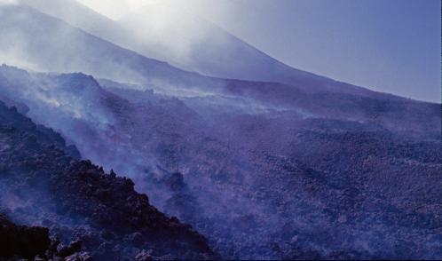 Jacques Padet : Etna - Coulée de lave