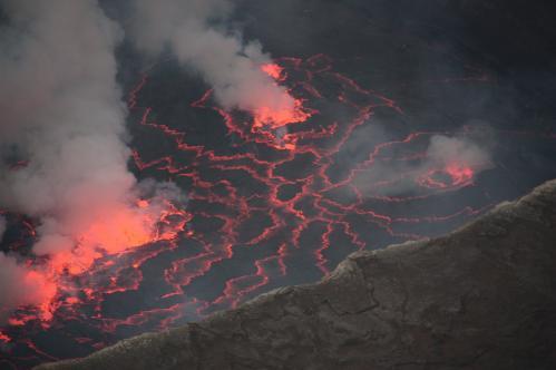 Jacques Padet : R.D. Congo - Lac de lave du Nyiragongo